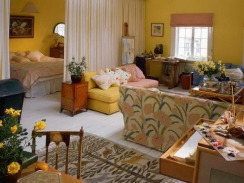 Уютная гостиная со спальной