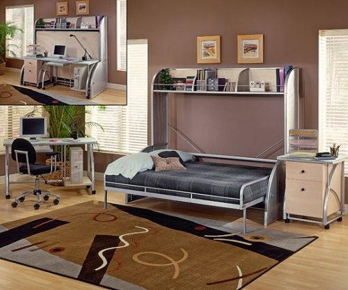 Как совместить гостиную и спальню с помощью мебели?