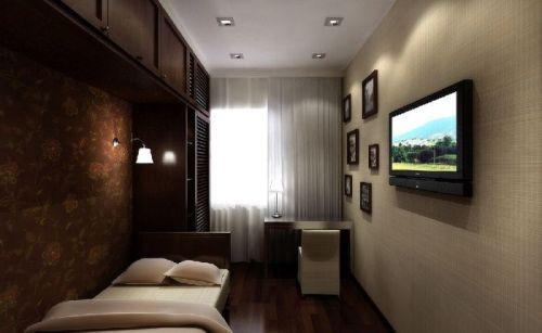 Обустройство узкой комнаты. Фото