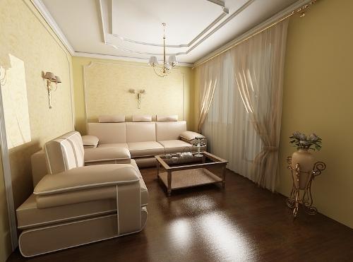 Меблирование узкой комнаты