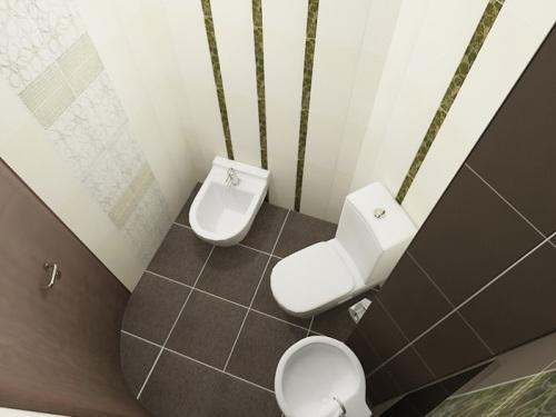 Укладка плитки в туалете в вертикальном направлении