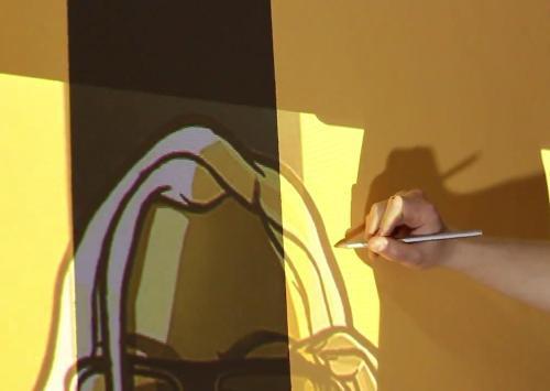 Как сделать рисунок на стене при помощи проектора?