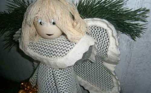 Рождественский ангел своими руками. Простая поделка для украшения дома