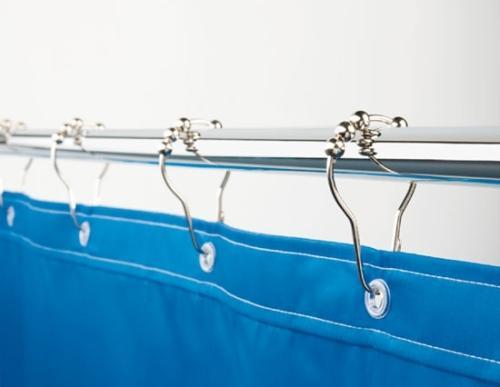 Как крепить шторки для ванной