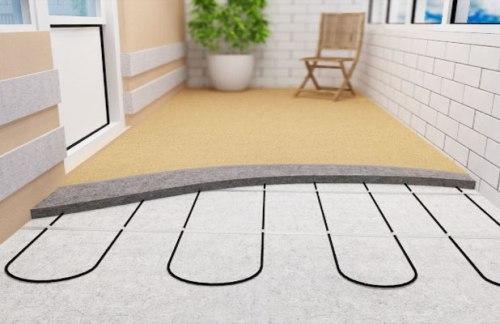 Теплый пол на балконе. Как правильно сделать балкон теплым?