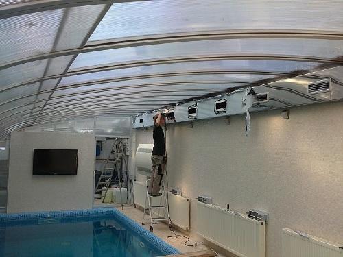 Как сделать вентиляцию бассейна?