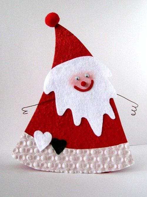 Дед Мороз из картона для елки
