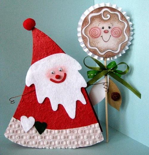 Дед Мороз из картона