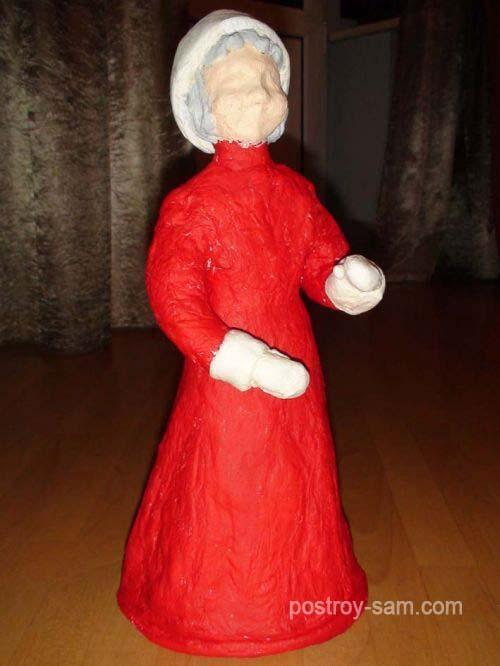 Покраска Деда Мороза