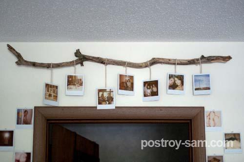 Карниз из веток для фотографий