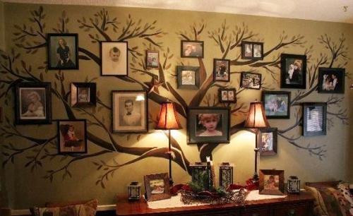 Декорирование стен своими руками из подручных средств
