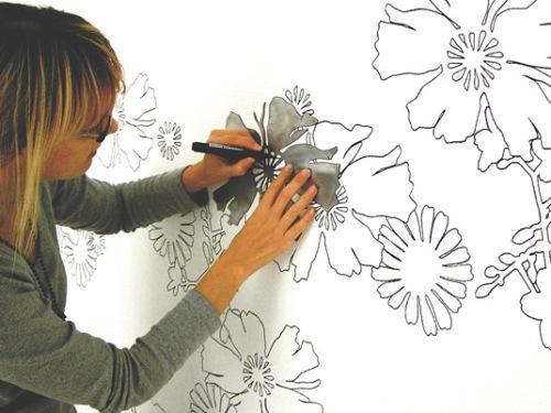 Декорирование стен своими руками. Примеры. Фото