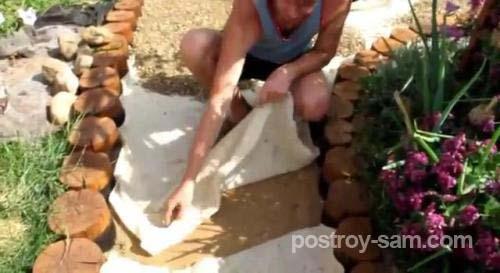 Деревянный бордюр для дорожек своими руками