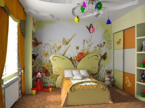 Сказочный дизайн детской 12 кв.м