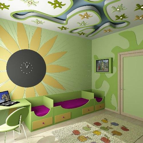 Прекрасный дизайн детской 12 кв.м