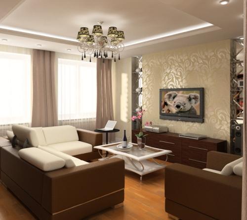 Освещение маленькой гостиной