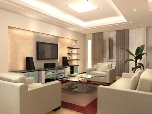 Свет в дизайне гостиной 20 кв.м