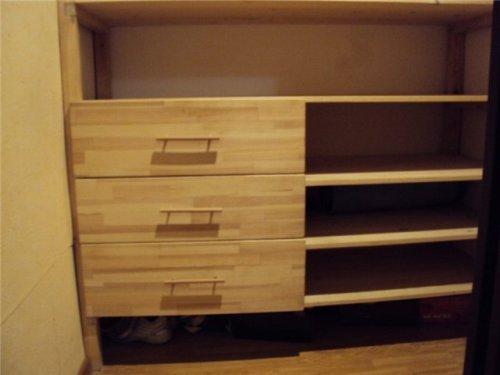 Ящики и полки в гардеробной