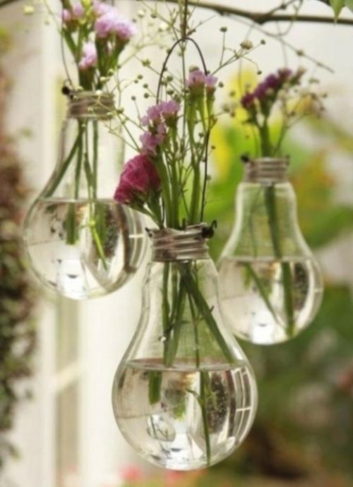 Вазочки из лампочек