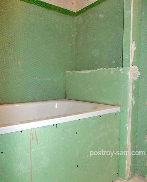 Как правильно обшить ванную гипсокартоном?