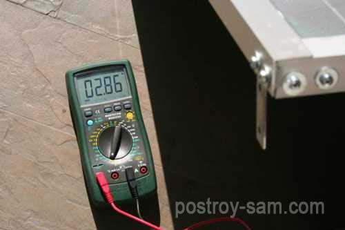 Показатели солнечной батареи