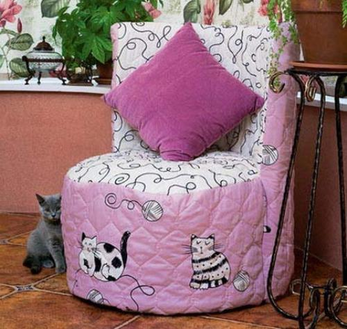 Кресло из шин своими руками