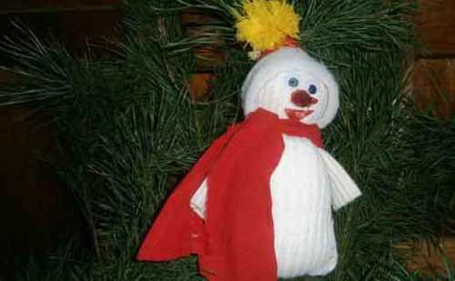 Новогодний снеговик своими руками — просто и быстро!
