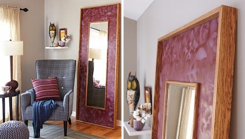 Обрамление зеркала своими руками. Фото