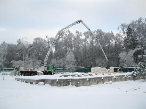 Заливка фундамента и других бетонных конструкций в зимнее время