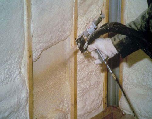 Утепление стен пенополиуретаном изнутри