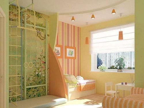 Как выполнить зонирование детской комнаты?