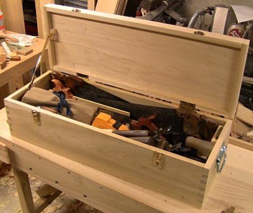 Деревянный ящик для инструментов своими руками. Мастер-класс
