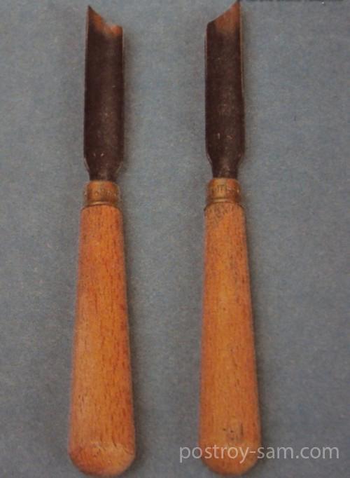 Стамеска со скошенной режущей кромкой