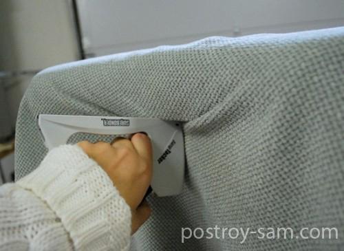 Обшиваем изголовье кровати тканью