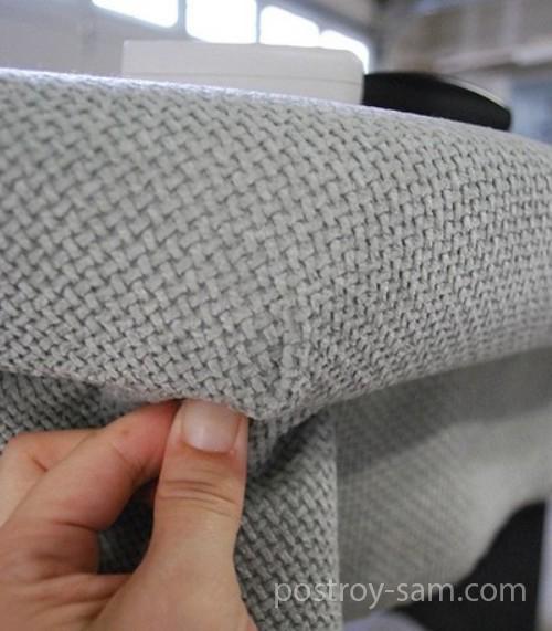 Крепление ткани в углах