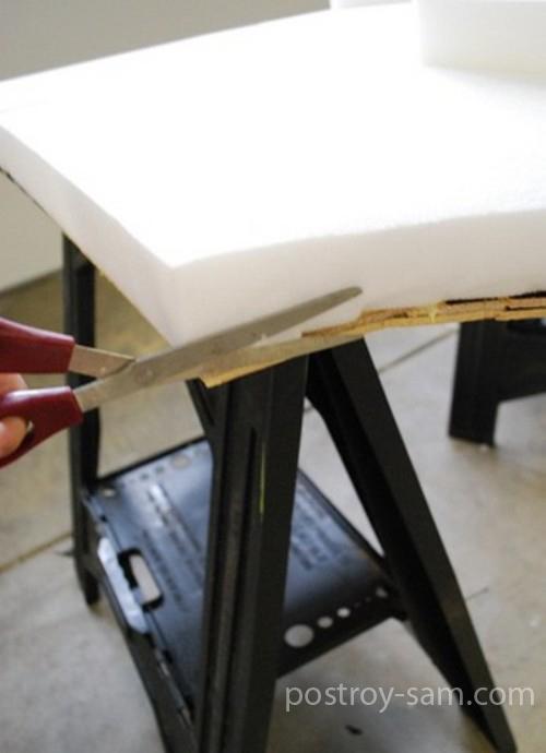 Вырезаем подкладочный материал