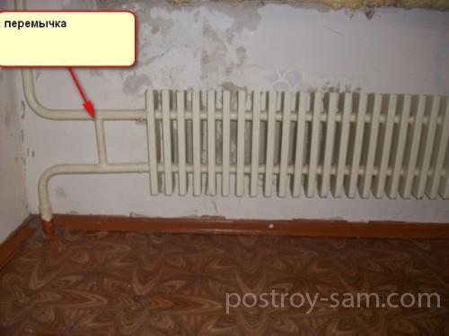 Радиатор с перемычкой