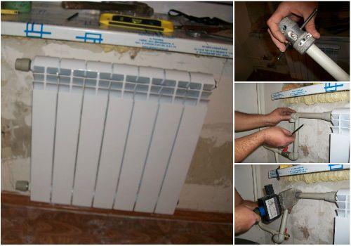 Как подключить радиатор отопления своими руками? Инструкция с фото