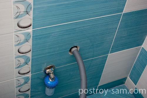 Места подключения воды и канализации