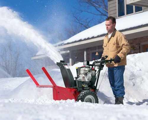 Как работает снегоуборщик? Видео