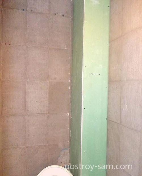 Как закрыть стояк в ванной гипсокартоном