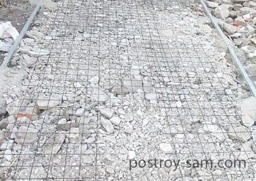 Армирование бетонной площадки