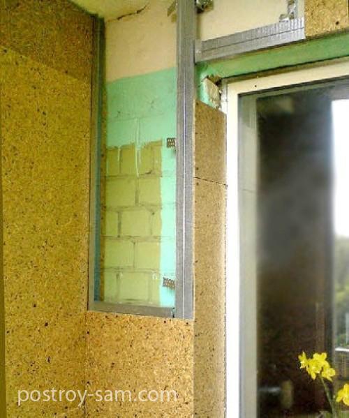 Обшивка стен лоджии