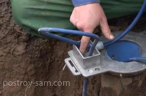Подключение электрического кабеля