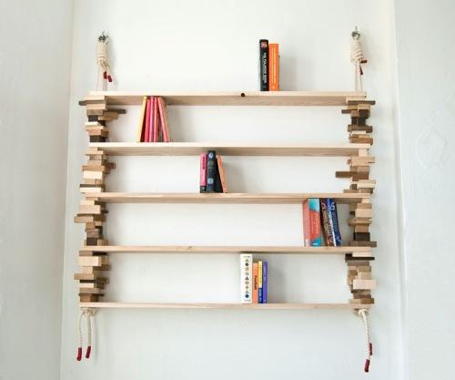 Настенные деревянные полки своими руками. Фото