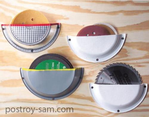 Хранение шлифовальных кругов и дисковых пил