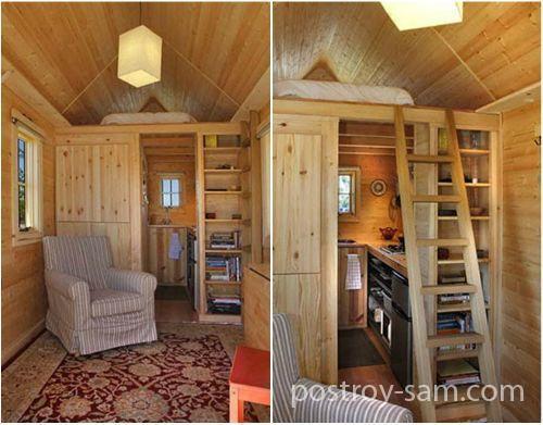 Интерьер маленького жилого домика