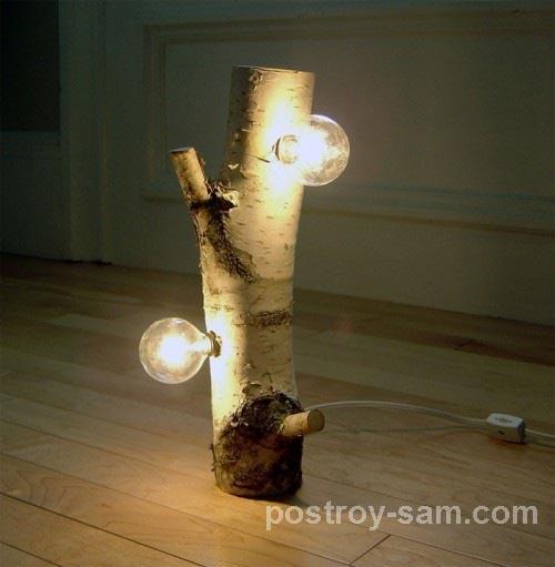 Светильник из березы