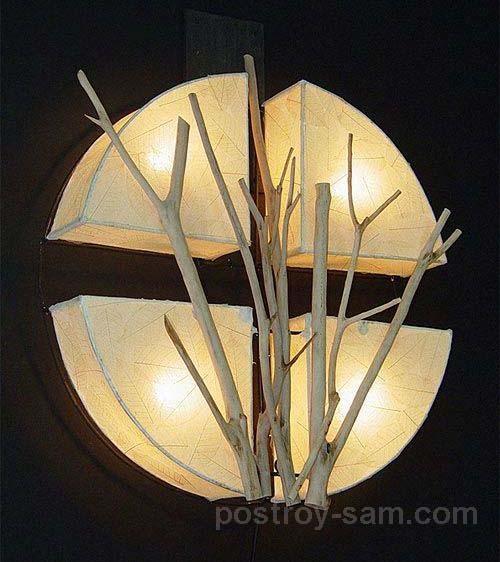 Светильник с нескольких частей