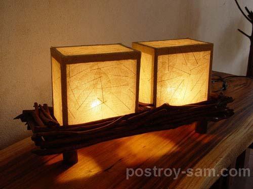 Двойной светильник своими руками
